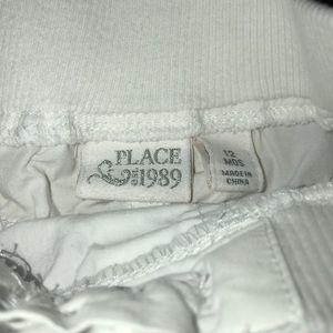 Children's Place Matching Sets - Girls Yellow Polka Dot Shirt & White Short Outfit